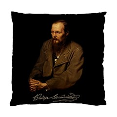 Fyodor Dostoyevsky Standard Cushion Case (one Side) by Valentinaart