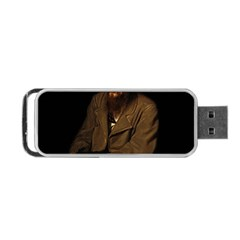 Fyodor Dostoyevsky Portable Usb Flash (one Side) by Valentinaart