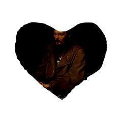Fyodor Dostoyevsky Standard 16  Premium Heart Shape Cushions by Valentinaart