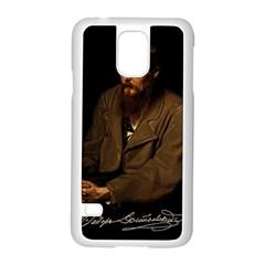 Fyodor Dostoyevsky Samsung Galaxy S5 Case (white) by Valentinaart
