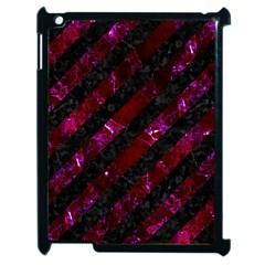 Stripes3 Black Marble & Burgundy Marblestripes3 Black Marble & Burgundy Marble Apple Ipad 2 Case (black) by trendistuff