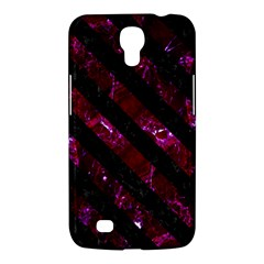 Stripes3 Black Marble & Burgundy Marble (r) Samsung Galaxy Mega 6 3  I9200 Hardshell Case by trendistuff