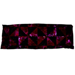 Triangle1 Black Marble & Burgundy Marble Body Pillow Case Dakimakura (two Sides) by trendistuff
