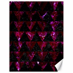 Triangle2 Black Marble & Burgundy Marble Canvas 18  X 24   by trendistuff