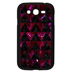 Triangle2 Black Marble & Burgundy Marble Samsung Galaxy Grand Duos I9082 Case (black) by trendistuff