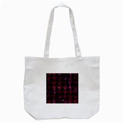 Triangle2 Black Marble & Burgundy Marble Tote Bag (white) by trendistuff