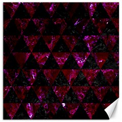 Triangle3 Black Marble & Burgundy Marble Canvas 20  X 20   by trendistuff