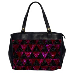 Triangle3 Black Marble & Burgundy Marble Office Handbags (2 Sides)  by trendistuff