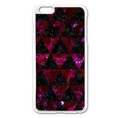 Triangle3 Black Marble & Burgundy Marble Apple Iphone 6 Plus/6s Plus Enamel White Case by trendistuff