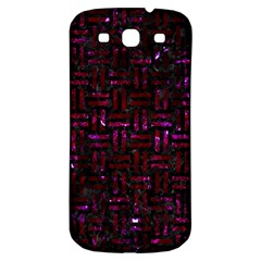 Woven1 Black Marble & Burgundy Marble Samsung Galaxy S3 S Iii Classic Hardshell Back Case by trendistuff
