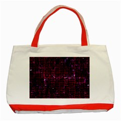 Woven1 Black Marble & Burgundy Marble (r) Classic Tote Bag (red) by trendistuff