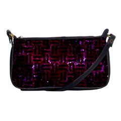 Woven1 Black Marble & Burgundy Marble (r) Shoulder Clutch Bags by trendistuff