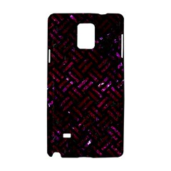 Woven2 Black Marble & Burgundy Marble Samsung Galaxy Note 4 Hardshell Case by trendistuff