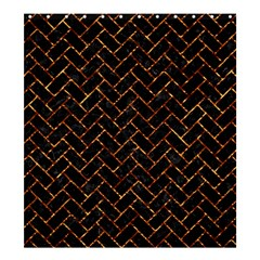 Brick2 Black Marble & Copper Foil Shower Curtain 66  X 72  (large)  by trendistuff