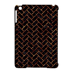 Brick2 Black Marble & Copper Foil Apple Ipad Mini Hardshell Case (compatible With Smart Cover) by trendistuff