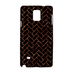 Brick2 Black Marble & Copper Foil Samsung Galaxy Note 4 Hardshell Case by trendistuff