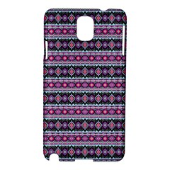 Fancy Tribal Border Pattern 17c Samsung Galaxy Note 3 N9005 Hardshell Case by MoreColorsinLife
