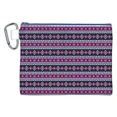 Fancy Tribal Border Pattern 17c Canvas Cosmetic Bag (xxl) by MoreColorsinLife