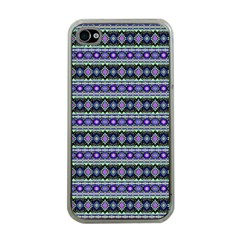 Fancy Tribal Border Pattern 17d Apple Iphone 4 Case (clear) by MoreColorsinLife