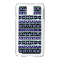 Fancy Tribal Border Pattern 17d Samsung Galaxy Note 3 N9005 Case (white) by MoreColorsinLife