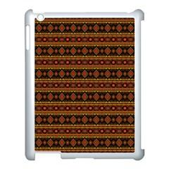Fancy Tribal Border Pattern 17e Apple Ipad 3/4 Case (white) by MoreColorsinLife