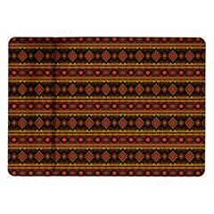 Fancy Tribal Border Pattern 17e Samsung Galaxy Tab 10 1  P7500 Flip Case by MoreColorsinLife