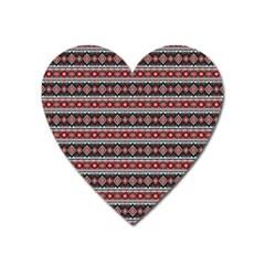 Fancy Tribal Border Pattern 17f Heart Magnet by MoreColorsinLife