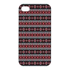 Fancy Tribal Border Pattern 17f Apple Iphone 4/4s Premium Hardshell Case by MoreColorsinLife