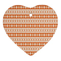 Fancy Tribal Border Pattern 17i Ornament (heart) by MoreColorsinLife