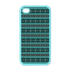 Fancy Tribal Border Pattern 17g Apple Iphone 4 Case (color) by MoreColorsinLife