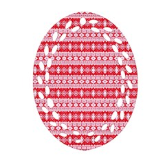 Fancy Tribal Border Pattern 17h Oval Filigree Ornament (two Sides) by MoreColorsinLife