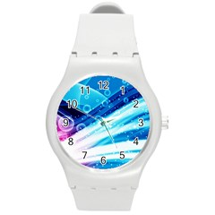 Cool Sunset Round Plastic Sport Watch (m) by AllOverIt
