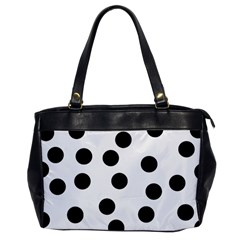 Black And White Spot Pattern Office Handbags by AllOverIt