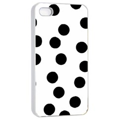 Black And White Spot Pattern Apple Iphone 4/4s Seamless Case (white) by AllOverIt