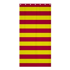 Red & Yellow Stripesi Shower Curtain 36  X 72  (stall)  by norastpatrick
