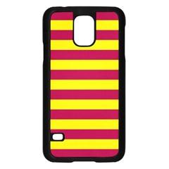 Red & Yellow Stripesi Samsung Galaxy S5 Case (black) by norastpatrick