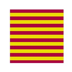 Red & Yellow Stripesi Small Satin Scarf (square) by norastpatrick
