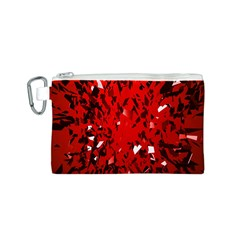 U Broke My Heart Canvas Cosmetic Bag (s) by norastpatrick