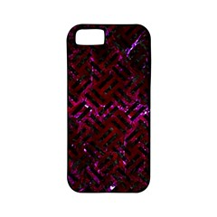 Woven2 Black Marble & Burgundy Marble (r) Apple Iphone 5 Classic Hardshell Case (pc+silicone) by trendistuff
