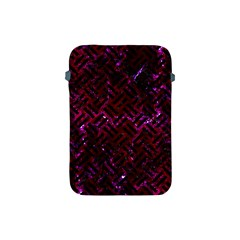 Woven2 Black Marble & Burgundy Marble (r) Apple Ipad Mini Protective Soft Cases by trendistuff