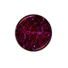 Tile1 Black Marble & Burgundy Marble (r) Hat Clip Ball Marker (10 Pack) by trendistuff