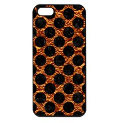 Circles2 Black Marble & Copper Foil (r) Apple Iphone 5 Seamless Case (black) by trendistuff