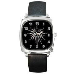 Inquisition Symbol Square Metal Watch by Valentinaart