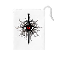 Inquisition Symbol Drawstring Pouches (large)  by Valentinaart
