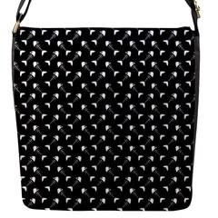 Fish Bones Pattern Flap Messenger Bag (s) by Valentinaart