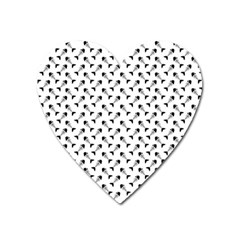 Fish Bones Pattern Heart Magnet by Valentinaart