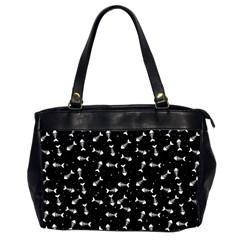 Fish Bones Pattern Office Handbags (2 Sides)  by Valentinaart