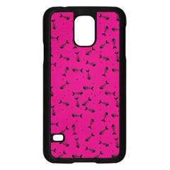 Fish Bones Pattern Samsung Galaxy S5 Case (black) by ValentinaDesign