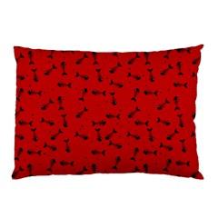 Fish Bones Pattern Pillow Case by ValentinaDesign