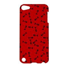 Fish Bones Pattern Apple Ipod Touch 5 Hardshell Case by ValentinaDesign